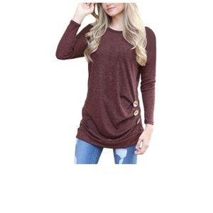 Dresses & Skirts - Women's Casual Long Sleeve Round Neck Loose Tunic